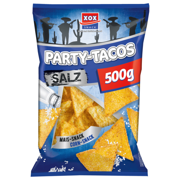 Xox Party-Tacos Mais-Snack Salz 500g
