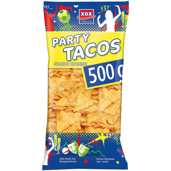 Xox Party Tacos Nacho Cheese 500g