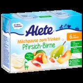 Alete Milchpause zum Trinken Pfirsich-Birne 2x200ml