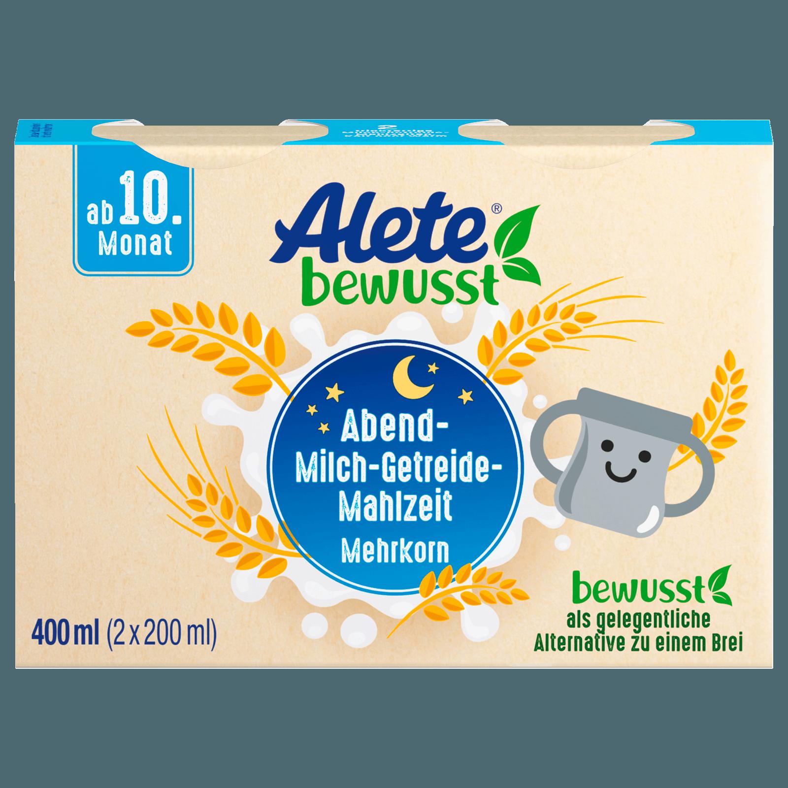 Alete Abendmahlzeit zum Trinken Mehrkorn-Getreide 2x200ml