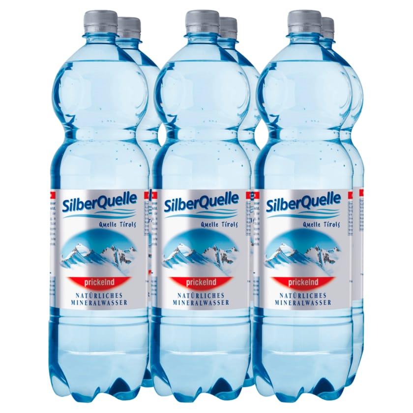 Silberquelle Mineralwasser prickelnd 6x1,5l