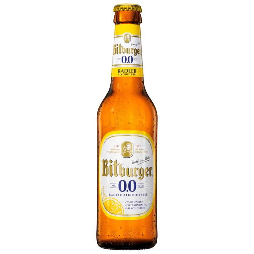 Bitburger Radler alkoholfrei 0,33l