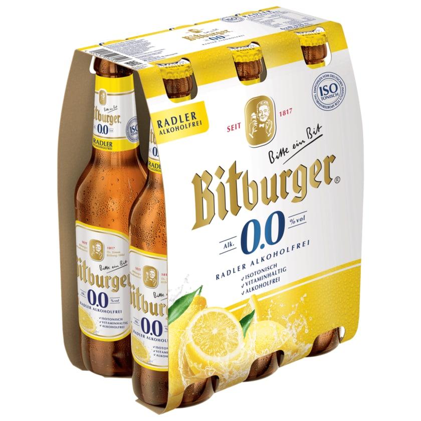 Bitburger Radler alkoholfrei 6x0,33l