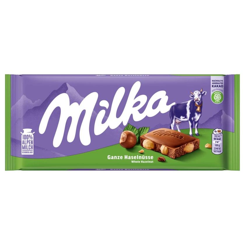 Milka Schokolade Ganze Haselnüsse 100g