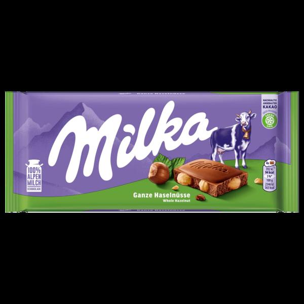 Milka Tafel Ganze Haselnüsse 100g
