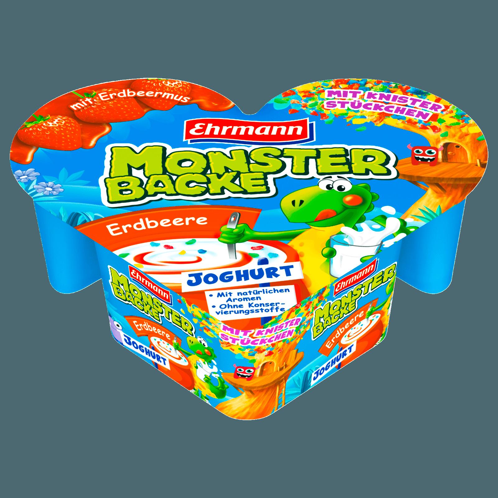 Ehrmann Monsterbacke Knister Erdbeer 135g