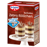 Dr. Oetker Schoko Zebra-Röllchen 75g