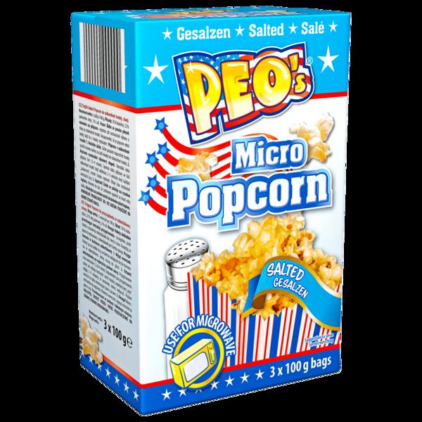 Peo's Micro Popcorn gesalzen 3x100g