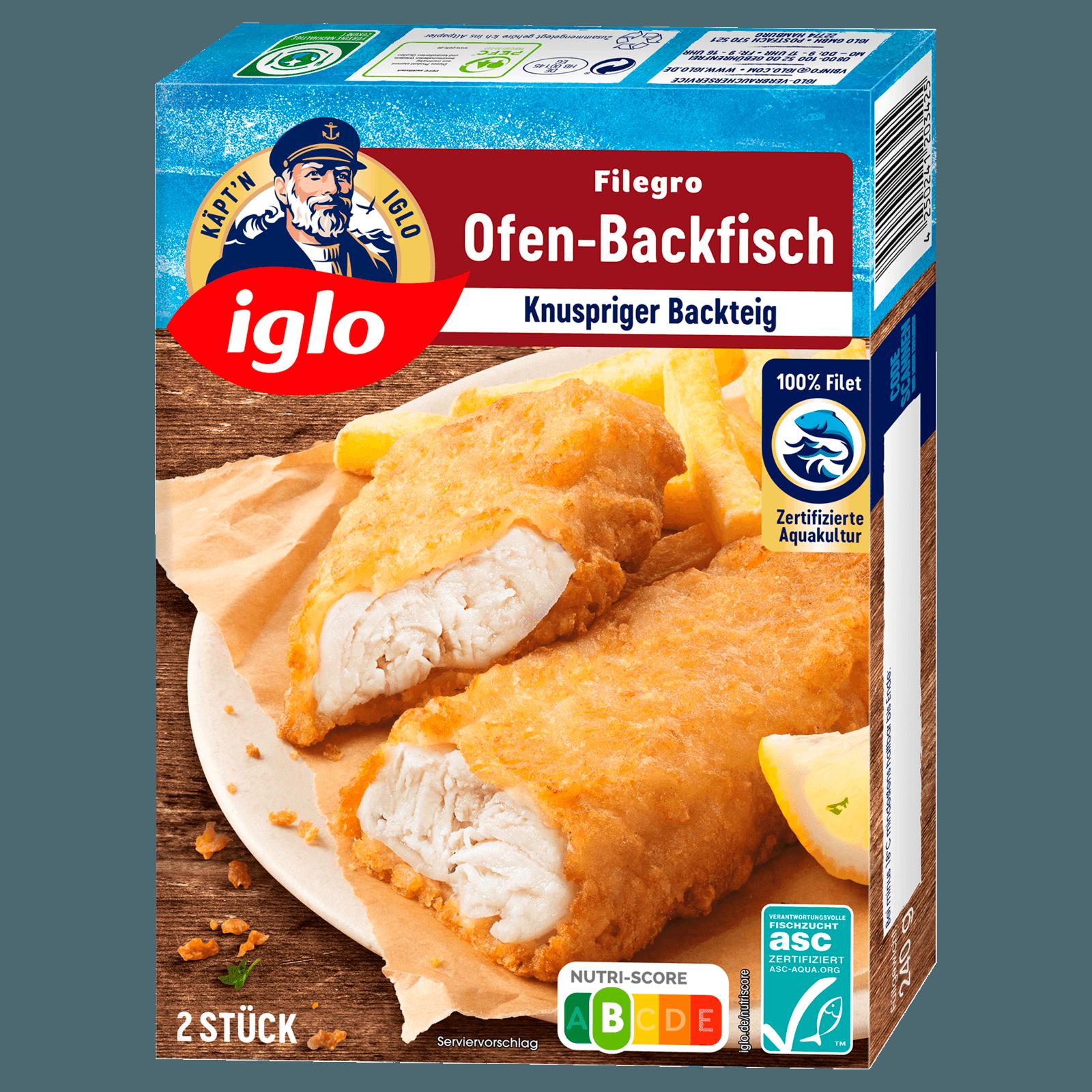 Iglo Filegro traditioneller Ofen-Backfisch 240g