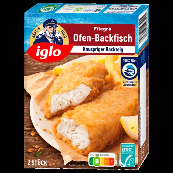 iglo filegro traditioneller ofen backfisch 240g bei rewe online bestellen. Black Bedroom Furniture Sets. Home Design Ideas