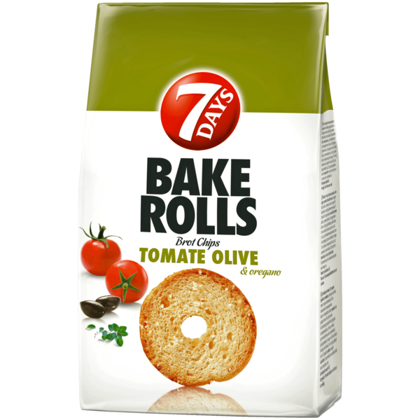 7 Days Bake Rolls Brot Chips Tomate-Olive-Oregano 250g