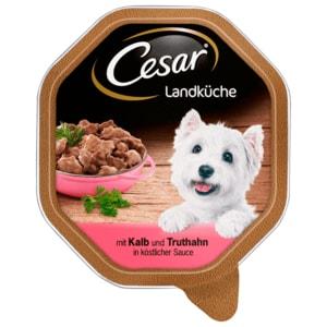 Cesar Hundefutter Landküche Mini Filets in Soße Kalb+Truthahn 150g