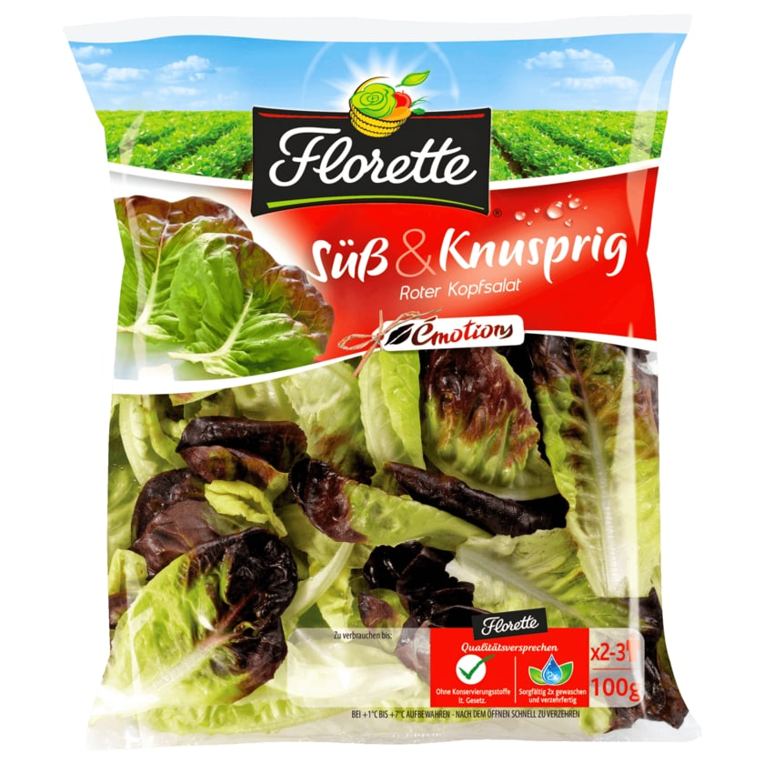Florette Süß & Knusprig Roter Kopfsalat 100g