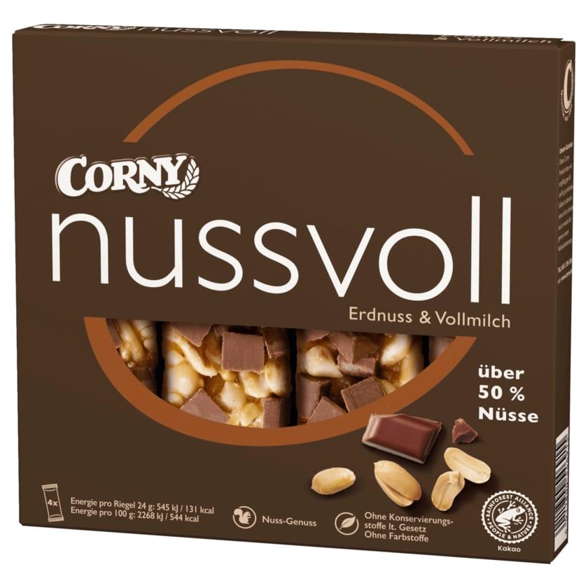 Corny Nussvoll Erdnuss & Vollmilch 96g, 4 Stück