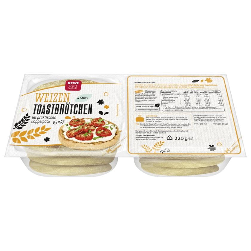REWE Beste Wahl Weizen-Toastbrötchen 220g