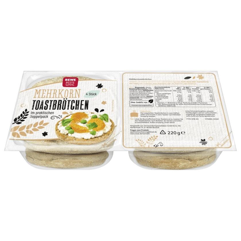 REWE Beste Wahl Mehrkorn-Toastbrötchen 220g