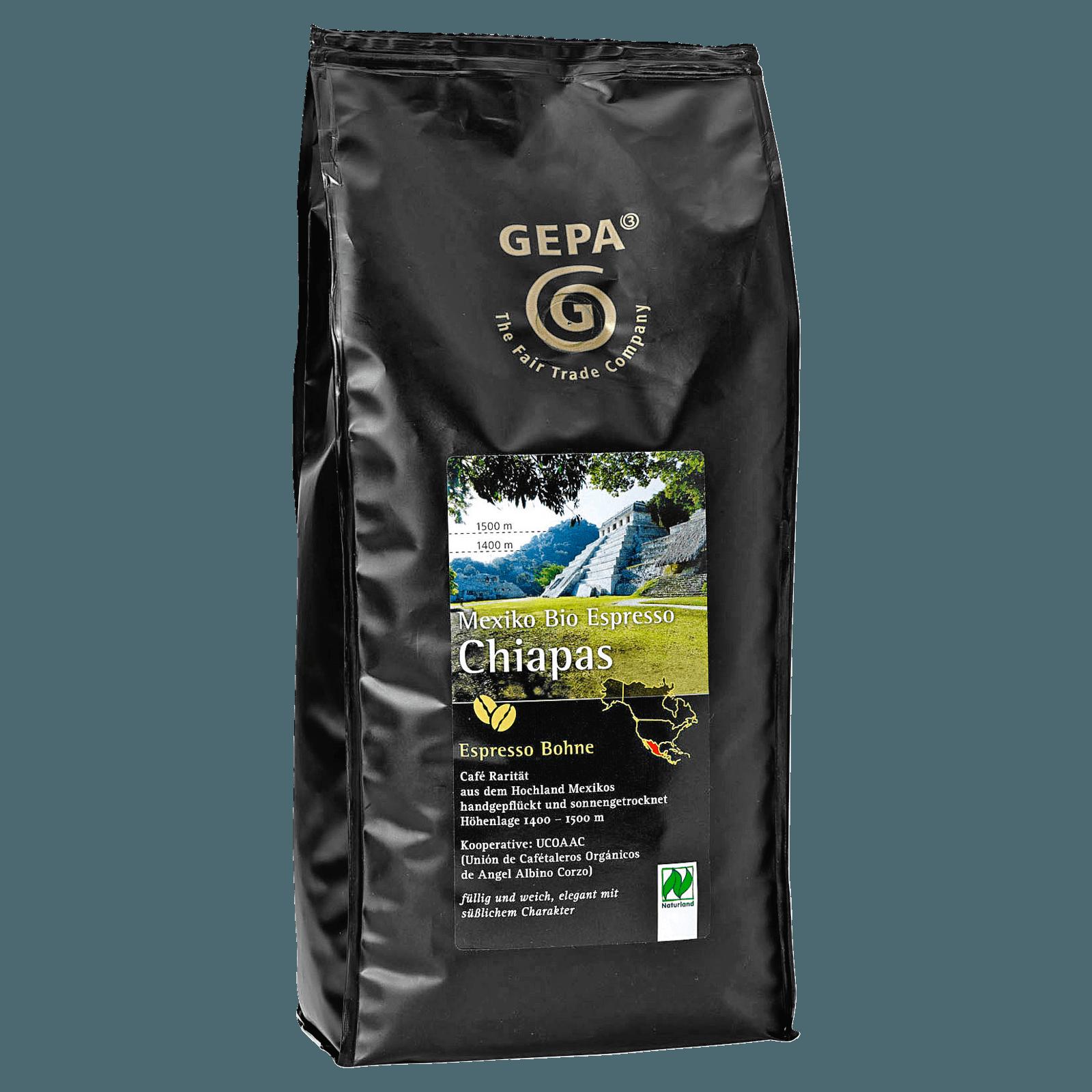 Gepa Bio Espresso Chiapas Bohne 1kg