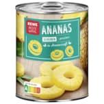 REWE Beste Wahl Ananas in Scheiben gezuckert 340g