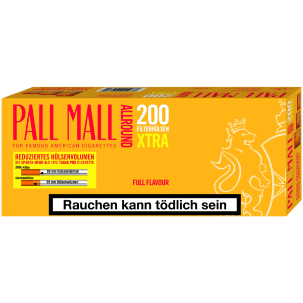 Pall Mall Allround Xtra Filterhülsen 200 Stück