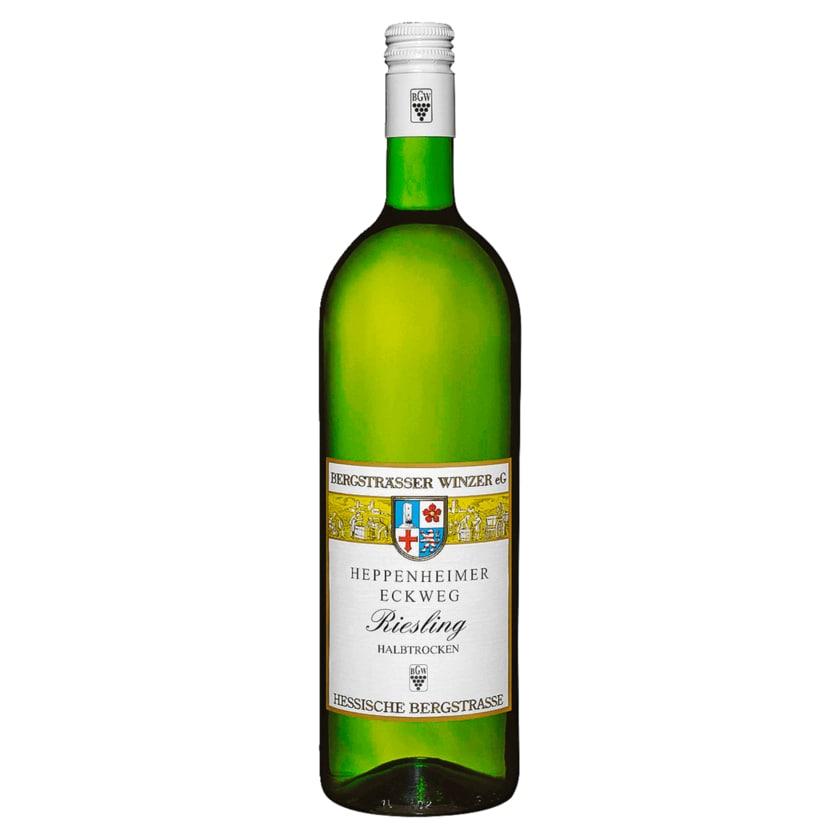 Heppenheimer Eckweg Weißwein Riesling halbtrocken 1l