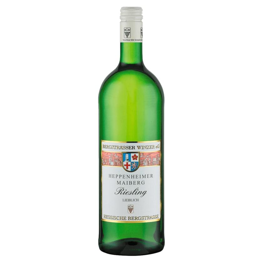 Heppenheimer Maiberg Weißwein Riesling lieblich 1l