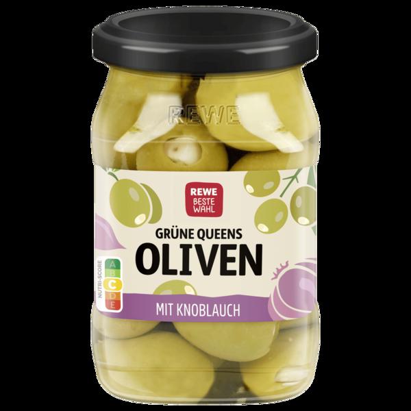 REWE Beste Wahl Antipasti Grüne Oliven gefüllt mit Knoblauch 280g