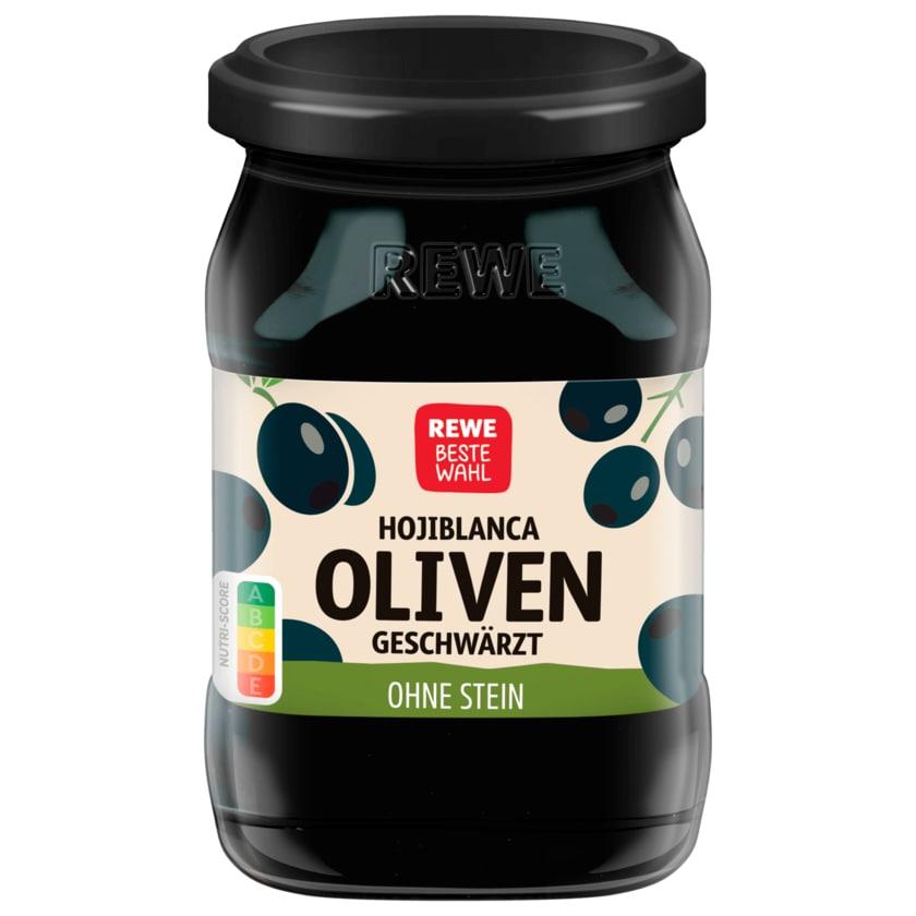 REWE Beste Wahl Oliven geschwärzt ohne Stein 135g