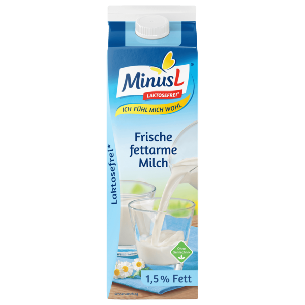 MinusL Frische fettarme Milch 1,5% 1l