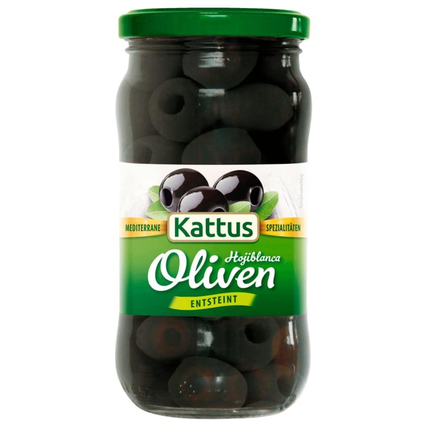 Kattus Schwarze Oliven entsteint 160g