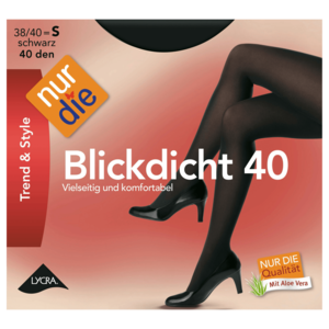 nur die blickdicht 40 den strumpfhose schwarz 38 40 bei rewe online bestellen. Black Bedroom Furniture Sets. Home Design Ideas