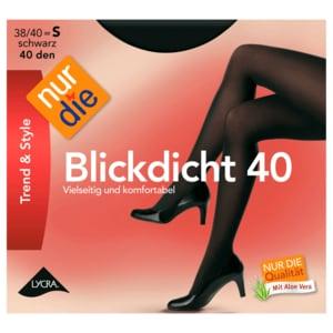 Nur die Blickdicht 40 den Strumpfhose schwarz 40-44