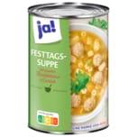 ja! Festtags-Suppe mit Fleischklößchen & Eierstich 400ml