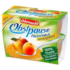 Odenwald Obstpause Fruchtmus Apfel & Aprikose 4x100g