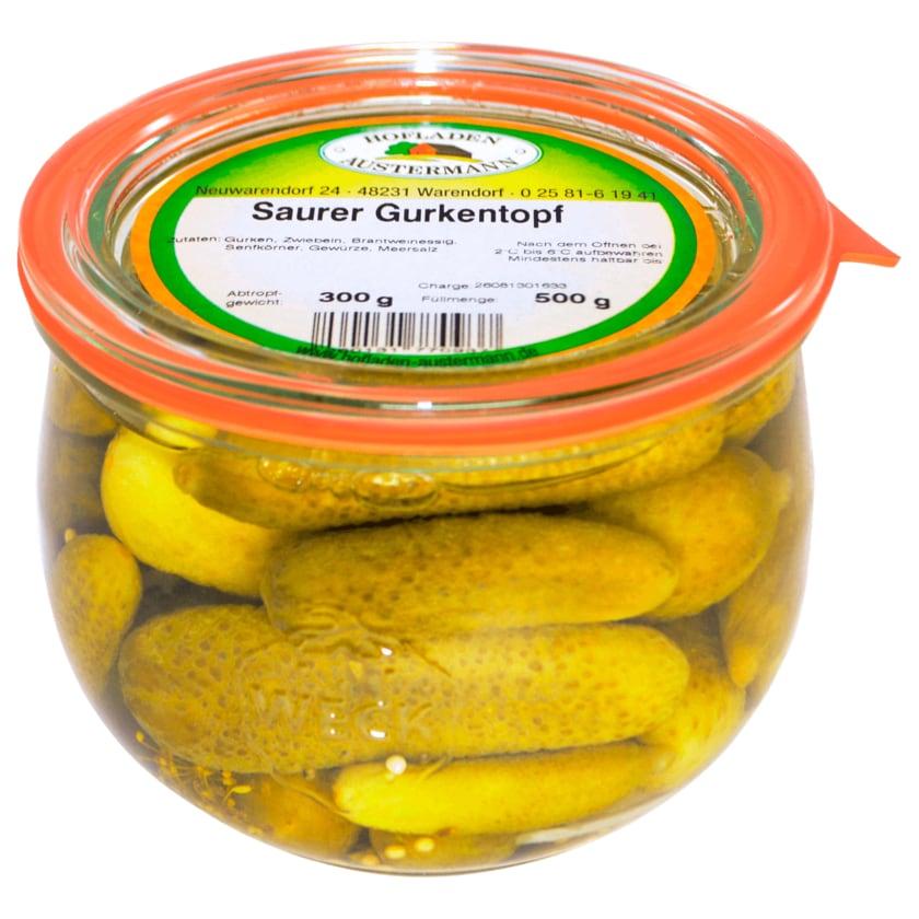 Hofladen Austermann Saurer Gurkentopf 300g