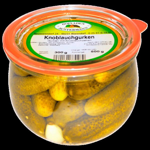 Hofladen Austermann Gurken mit Knoblauch 500g