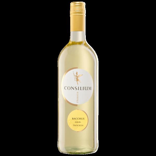 Consilium Franken Weißwein Bacchus QbA halbtrocken 1l