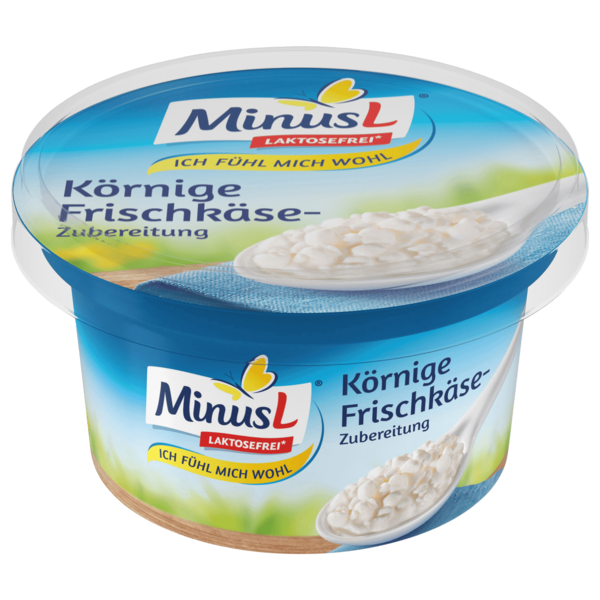 MinusL Körniger Frischkäse 150g