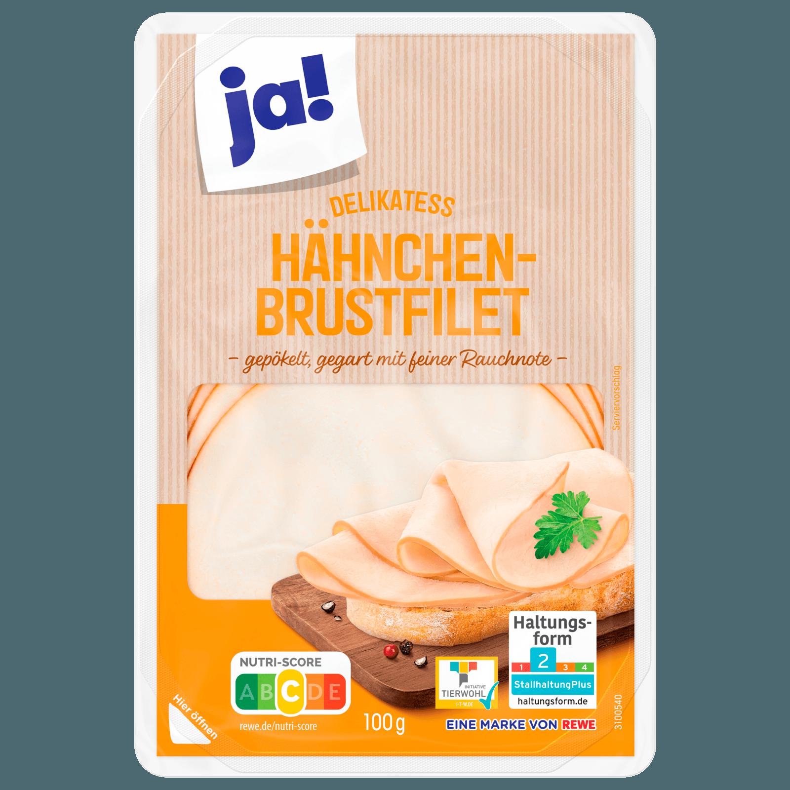 ja! Delikatess-Hähnchenbrustfilet mit feiner Rauchnote 100g