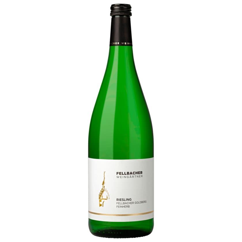 Fellbacher Weingärtner Weißwein Riesling halbtrocken QbA 1l