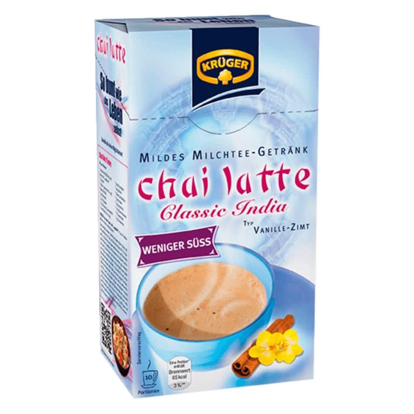 Krüger Chai Latte Classic India weniger süß 140g, 10 Beutel