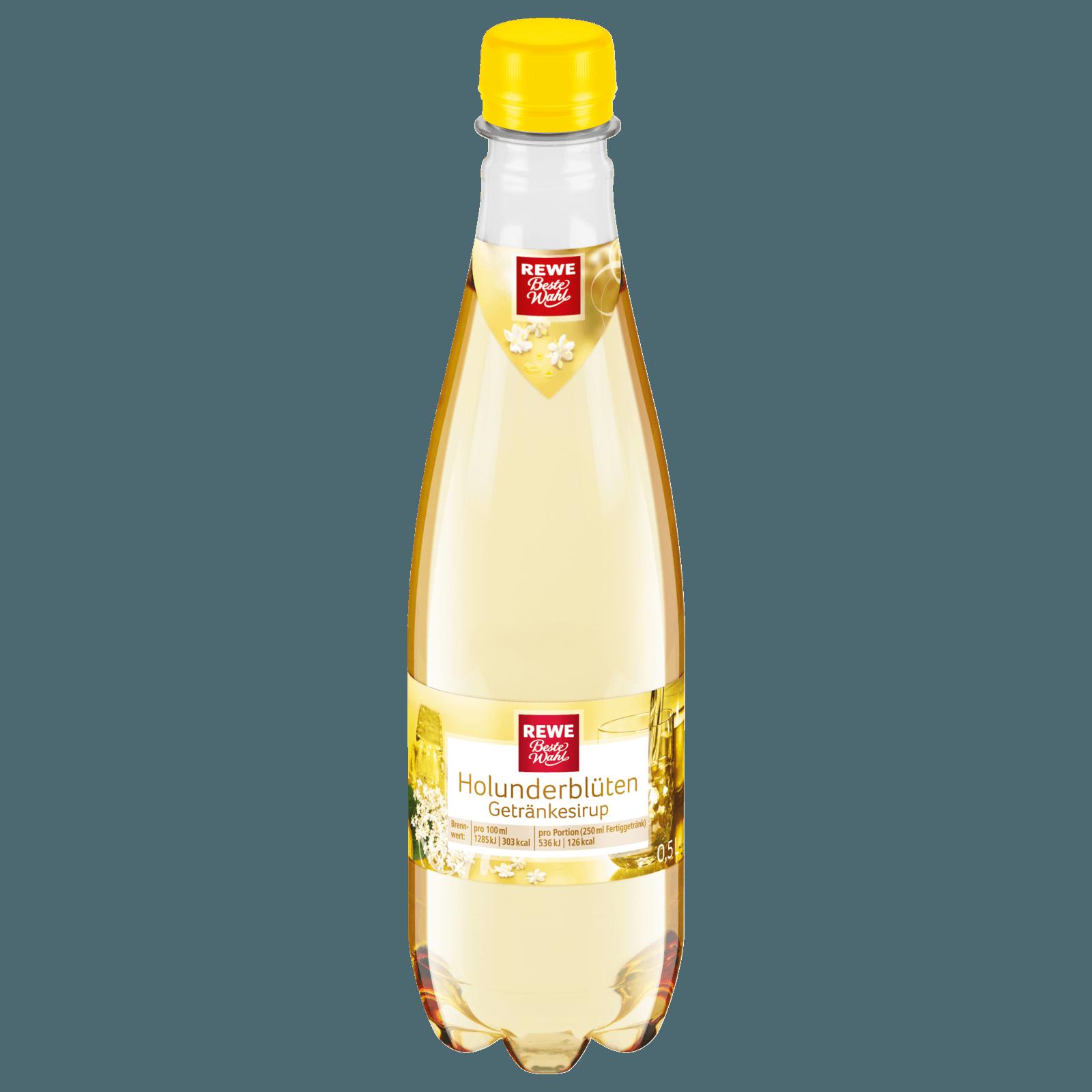 REWE Beste Wahl Holunderblüten-Getränkesirup 0,5l bei REWE online ...