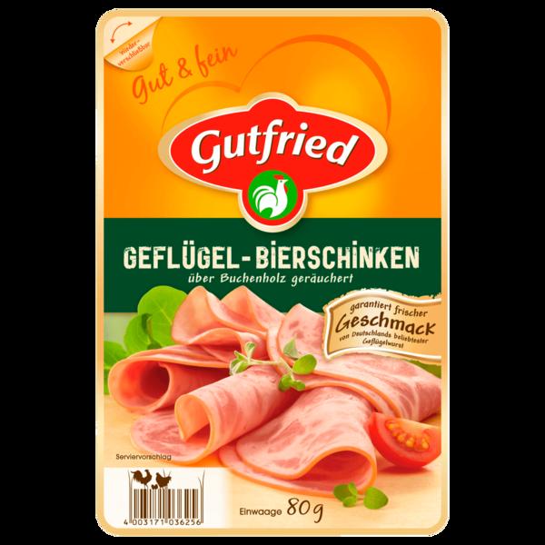Gutfried Geflügel-Bierschinken geräuchert 80g
