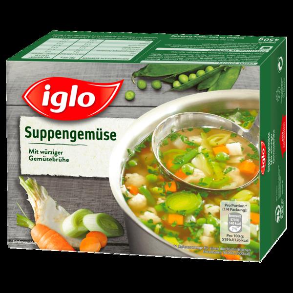 Iglo Suppengemüse mit würziger Gemüsebrühe 450g