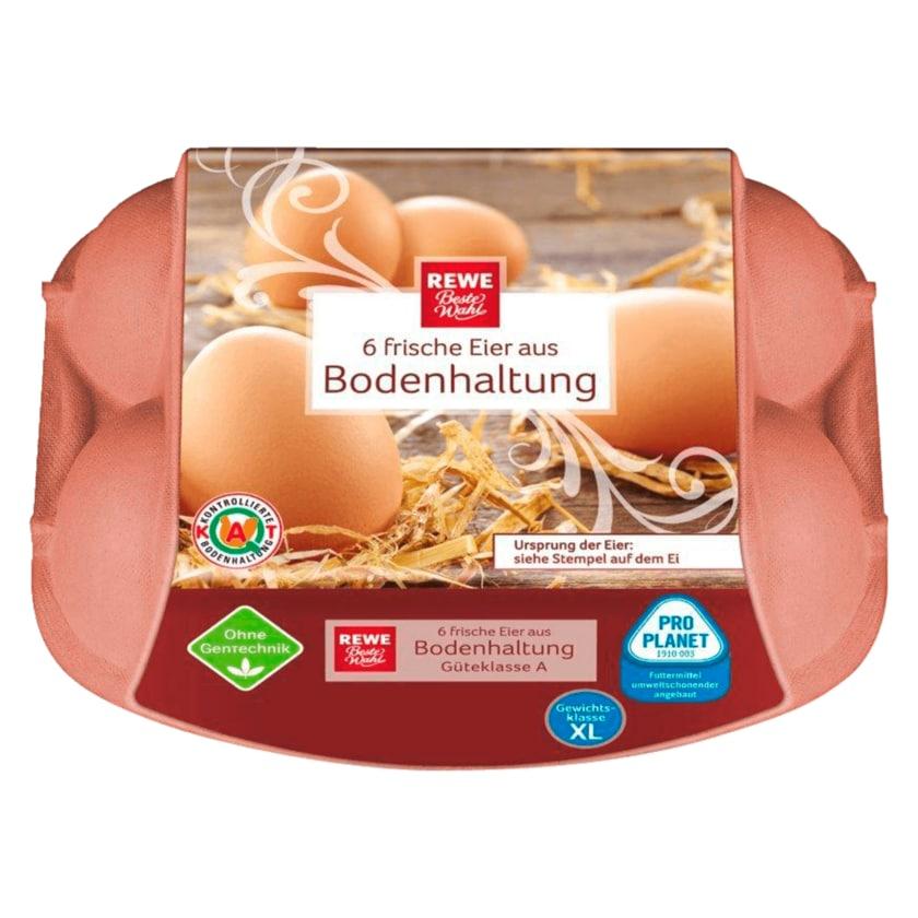 REWE Beste Wahl Eier Bodenhaltung 6 Stück