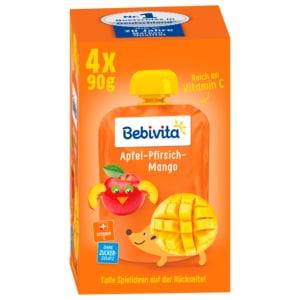 Bebivita Kinder-Spaß Apfel-Pfirsich-Mango 4x90g