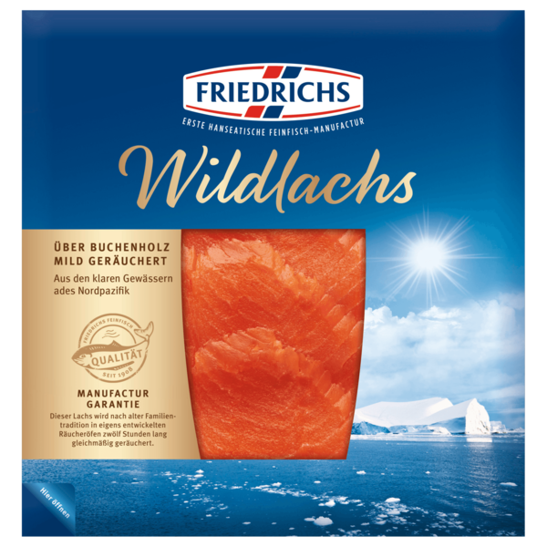 Friedrichs Wildlachs Smoked 50g