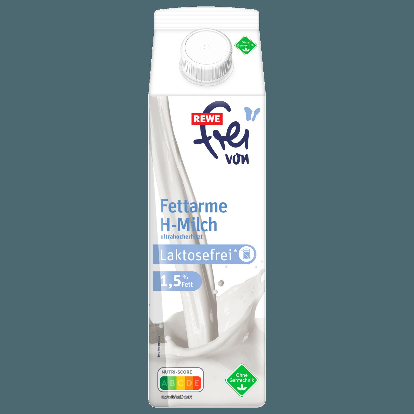 REWE Frei von Fettarme H-Milch laktosefrei 1,5% 1l
