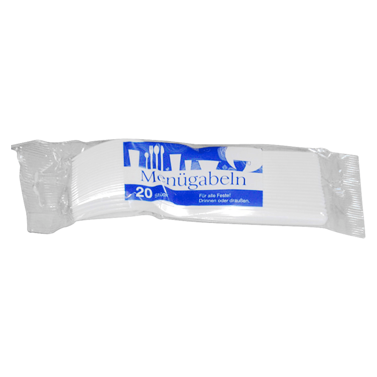 Plastikgabeln weiß 20 Stück
