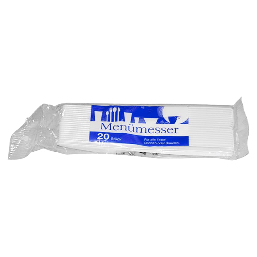 Plastikmesser weiß 20 Stück