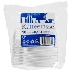 Kaffeetasse weiß 10 Stück